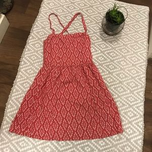 Abercrombie & Fitch pink Aztec design dress Small
